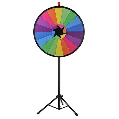 "WinSpin® 30"" Color Prize Wheel 18 Slot Floor Stand Tripod Spin Game Tradeshow"