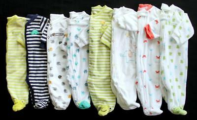 Baby Boy Newborn 3 Months Carter's Terry Cloth Sleepers Pajama Clothes Lot