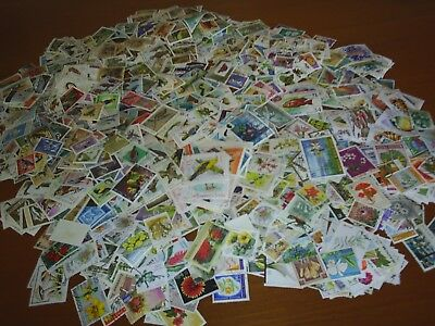 Thematic.  1400 Stamps, Mint & Used, Birds, Flowers, Etc.