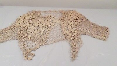 Vintage Antique Handmade Crochet Net Short Jacket
