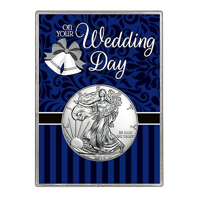 2016 $1 American Silver Eagle Gift Holder – Wedding Day Design