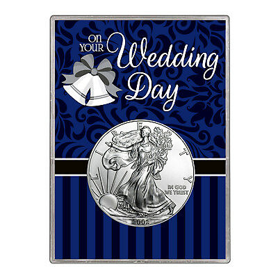 2002 $1 American Silver Eagle Gift Holder – Wedding Day Design