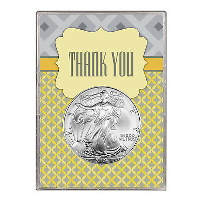 2006 $1 American Silver Eagle Gift Holder – Thank You Design