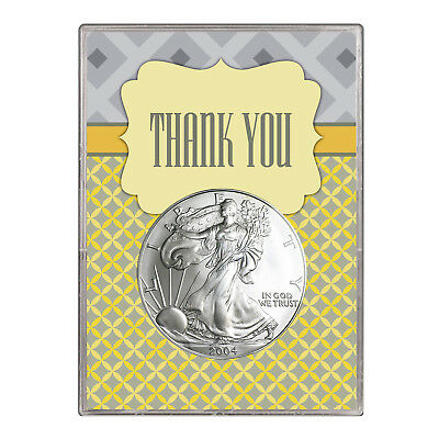 2004 $1 American Silver Eagle Gift Holder – Thank You Design