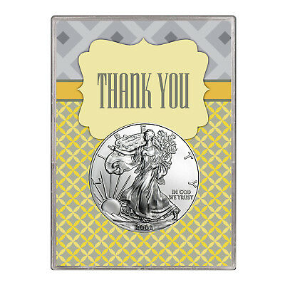2002 $1 American Silver Eagle Gift Holder – Thank You Design