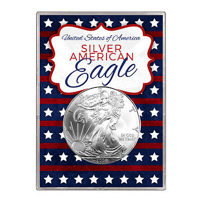 2009 $1 American Silver Eagle Gift Holder – Stars and Stripes Design