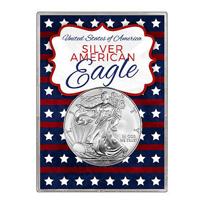 2008 $1 American Silver Eagle Gift Holder – Stars and Stripes Design