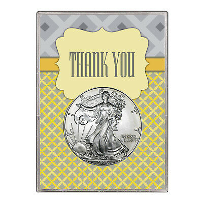 1996 $1 American Silver Eagle Gift Holder – Thank You Design