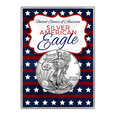 2018 $1 American Silver Eagle Gift Holder – Stars and Stripes Design
