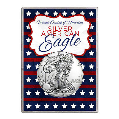 2016 $1 American Silver Eagle Gift Holder – Stars and Stripes Design