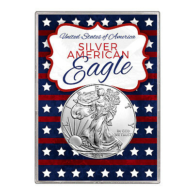 2014 $1 American Silver Eagle Gift Holder – Stars and Stripes Design