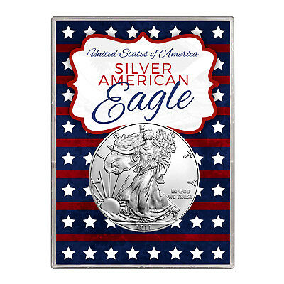 2011 $1 American Silver Eagle Gift Holder – Stars and Stripes Design