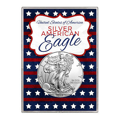2010 $1 American Silver Eagle Gift Holder – Stars and Stripes Design
