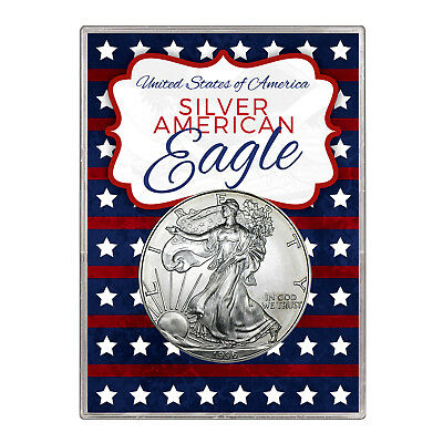 1996 $1 American Silver Eagle Gift Holder – Stars and Stripes Design