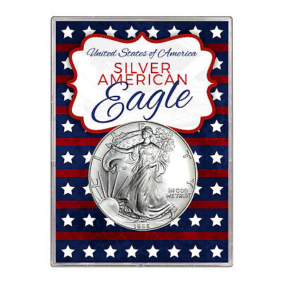 1995 $1 American Silver Eagle Gift Holder – Stars and Stripes Design