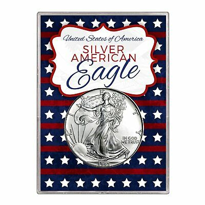 1993 $1 American Silver Eagle Gift Holder – Stars and Stripes Design