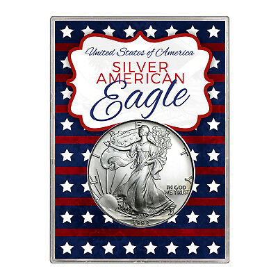 1992 $1 American Silver Eagle Gift Holder – Stars and Stripes Design