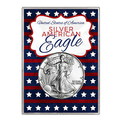 1991 $1 American Silver Eagle Gift Holder – Stars and Stripes Design