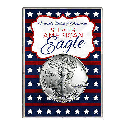 1990 $1 American Silver Eagle Gift Holder – Stars and Stripes Design