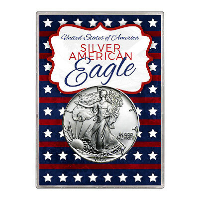 1989 $1 American Silver Eagle Gift Holder – Stars and Stripes Design