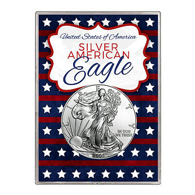 2002 $1 American Silver Eagle Gift Holder – Stars and Stripes Design