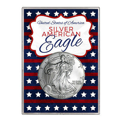 2000 $1 American Silver Eagle Gift Holder – Stars and Stripes Design