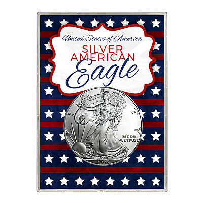 1998 $1 American Silver Eagle Gift Holder – Stars and Stripes Design
