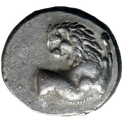 Ancient Greek Silver Coin Chersonesos Chemidrachm 400-350 Bc , Lion