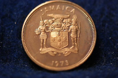 Jamaica, 1973 Cent, Flower, Proof, No Reserve,                             mab10
