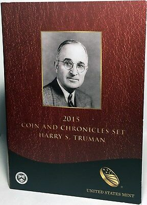 2015 Harry S. Truman 2 Coin PR Set (With Book and COA) - Miscellaneous Coinage