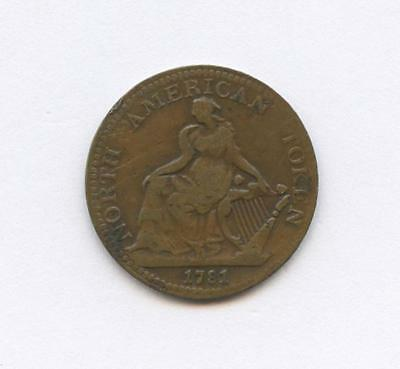 1781 North American Commerce Token - Sailing Ship & Seated Lady