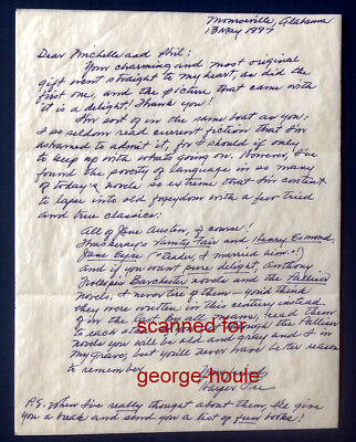 Harper Lee - Letter - Signed - To Kill A Mockingbird - Gregory Peck - Pulitzer
