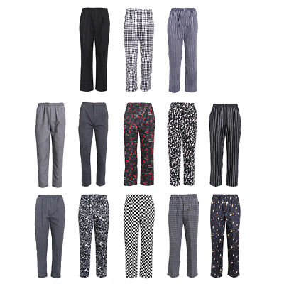 Chef Baggy Pants Chefs Men Women Cooking Pants with Pockets with Drawcord