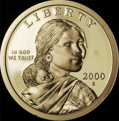 2000-S GEM DEEP CAMEO Proof Native American/Sacagawea Dollar @ CherrypickerCoins