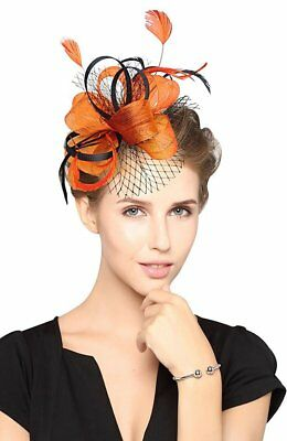 DotVeil Kentucky Derby Fascinator Hats Feather Prom Cocktail Tea Party Hats d070c127059a