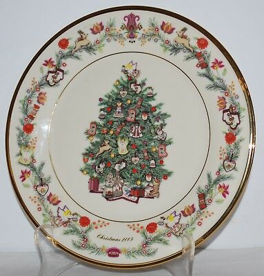 Lenox 2005 Christmas Trees Around the World Plate Hungary - 15th in series