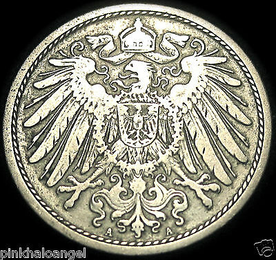 Germany  German Empire 1893A 10 Pfennig Coin  Very Old