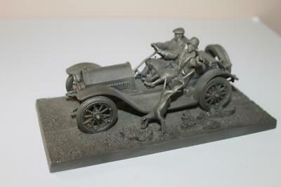 1976 Franklin Mint Fine Pewter The Stutz Car Bearcat Sculpture