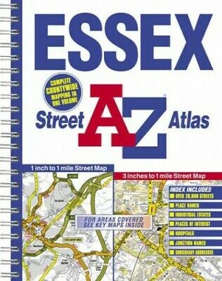 A-Z Essex Street Atlas by Geographers' A-Z Map Company Paperback Book The Cheap
