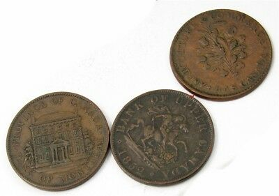Lot of 3 Different Canadian Bank Tokens -Mixed Dates & Types- Avg Circ or Better