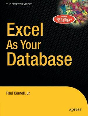 Excel as Your Database by Cornell, Paul Paperback Book The Cheap Fast Free Post