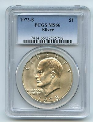 1973 S $1 Silver Ike Eisenhower Dollar PCGS MS66