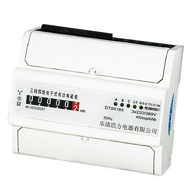 20(80)A, 3 Phase 4 Wire Din Rail KWH Watt Hour Energy Meter Remote Control