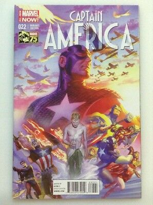 Captain America #22•color 1:75 Variant Edition By Alex Ross•marvel 75 Years