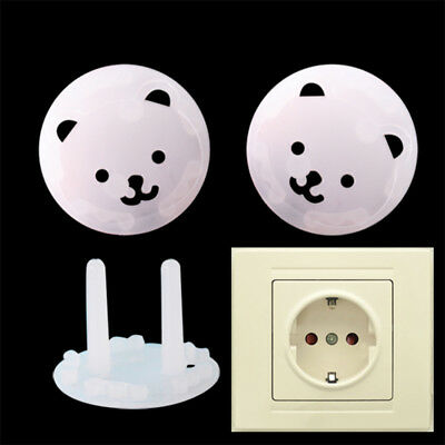 10PCS Safety Covers Cap Anti Electric EU Wall Plug Socket Baby Kids Protection