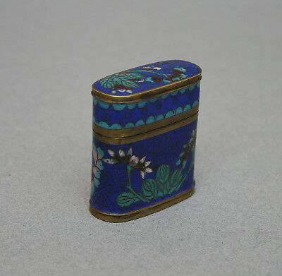 Antique Chinese Cloisonne Opium Container Qing
