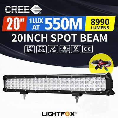 20inch QUAD ROW CREE LED Work Light Bar Offroad 12V 24V ATV 4x4WD Truck 22/23""
