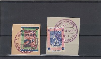 Poland 1943 Field Post Office Cancellations