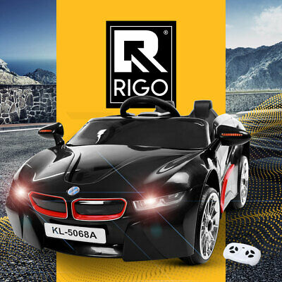 RIGO Kids Ride On Car BMW i8 Style 2 Speed 12V Remote Battery Electric Toy Black