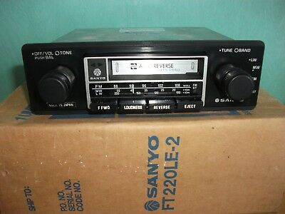 Sanyo Ft 220Le Car Cassette Radio Stereo Vintage Retro Classic Boxed & Instructs